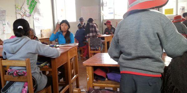 Klassenraum einer typischen Grundschule
