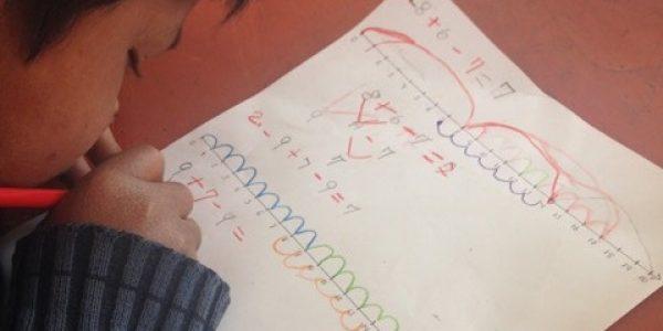 Lernmethoden in einer peruanischen Grundschule